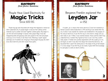 Electricity Unit Study: First Electric Inventions