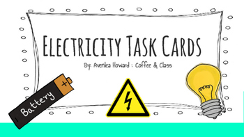 Electricity Unit Task Cards