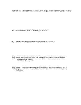 Electricity Unit Test Study Guide