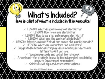 Electricity Unit and Interactive Notebook Resource: Grades 3-5