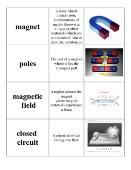 Electricity Vocabulary Sort