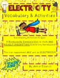 Electricity Vocabulary Study: Ready-to-Go Science Unit- Common Core Aligned ELA