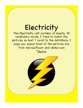 Electricity Vocabulary Words