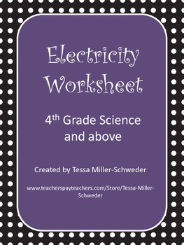 Upper Elementary Science Electricity WS