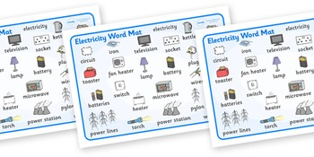 Electricity Word Mat