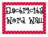 Electricity Word Wall
