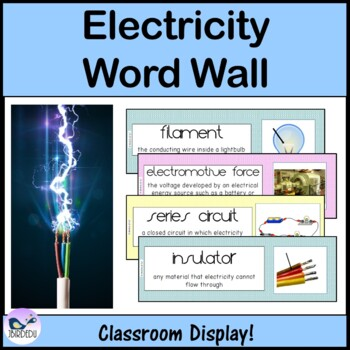 Electricity. Word Wall
