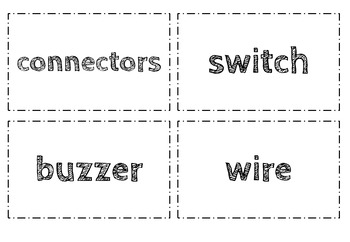 Electricity Word Wall Cards - Grades 1 to 7
