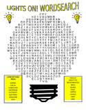 Electricity Wordsearch and Vocabulary