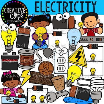Electricity and Circuits Clipart {Creative Clips Clipart}