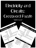 Electricity and Circuits Crossword (TEKS 5.6B)