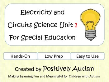Electricity and Circuits Science Unit 1 For Special Education