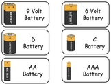 Electricity and Circuits printable Flash Cards. Preschool