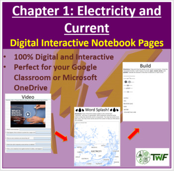 Electricity and Current - Digital Interactive Notebook Pages