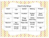 Electricity and Electrical Circuit Bingo