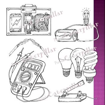 Electricity and Light Bulb Clip Art