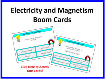 Electricity and Magnetism Boom Cards