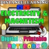 Electricity and Magnetism- Physical Science Digital and Printable Notebook