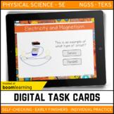 Electricity and Magnetism Digital Task Cards - Boom Cards