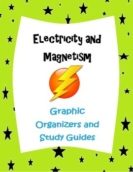 Electricity and Magnetism  Graphic organizers and study gu