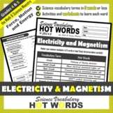 4th Grade Science Hot Words: Electricity and Magnetism Voc