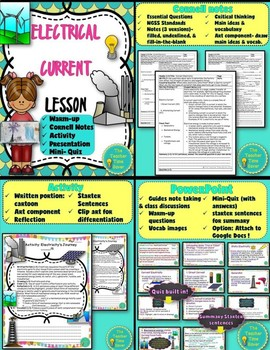 Electricity and Magnetism Lesson Bundle- Physical Science