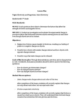 Electricity and Magnetism Lesson Plan