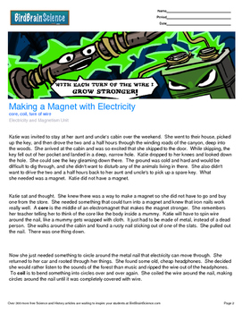 Intro to Electricity and Magnetism, Making a Magnet, Engaging Science Reading