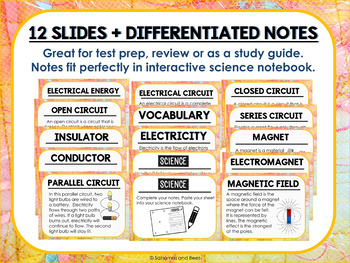 Electricity and Magnetism PowerPoint and Notes {blank template included}
