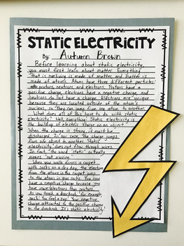 Electricity and Magnetism Research Activity: Science and Literacy