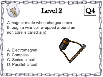 Electricity and Magnetism Activity: Escape Room - Science