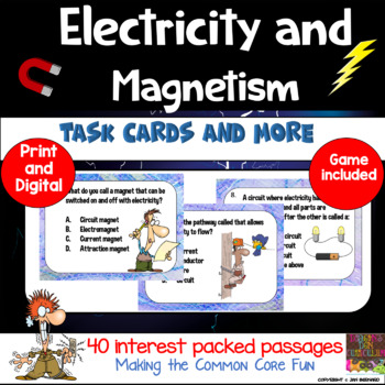 Electricity and Magnetism: Science Task Cards and More
