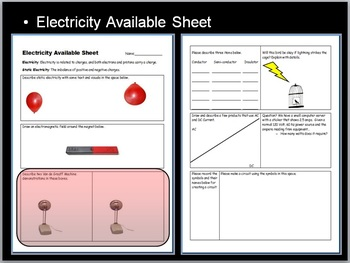 Electricity and Magnetism Lesson