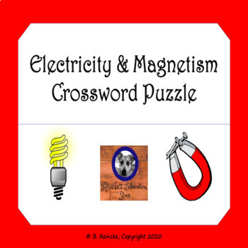 Electricity And Magnetism Crossword Puzzle Worksheets & Teaching