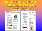 Electricity and Magnetism Vocabulary Quiz (Study Guide and Puzzle Pages)