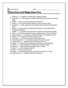 Electricity and Magnetism Warm-up
