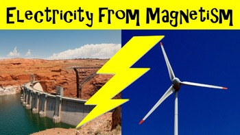 Electricity from Magnetism No Prep Lesson w/ Power Point,