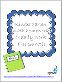 Common Core Daily Math for Kindergarten with Constructed Responses