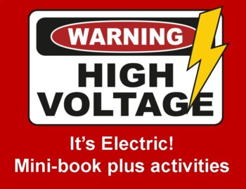 Electricity- mini book and activities for learning the basics of circuits