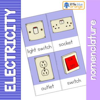 Electricity nomenclature cards