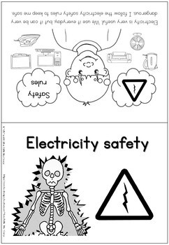Electricity safety coloring booklet