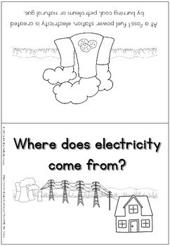 Electricity - where does electricity come from? - coloring booklet
