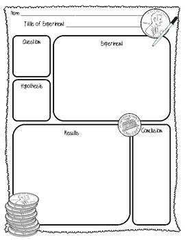 {FREEBIE} Penny Lab Sheet (2 Pages) {Scientific Method Lab Sheet}