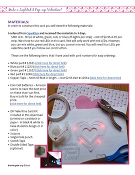 Easy! Electrify Your Valentine! Make your own LED Pop Up Card|STEAM Maker Space