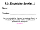 Electrisity lesson and resources