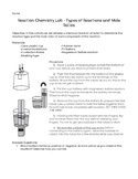 Types of Reactions and Mole Ratios Lab: Electrolysis of Water
