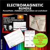 Electromagnetic Bundle: Power point, 2 foldables, visible light worksheet
