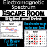 Electromagnetic Spectrum Activity: Physical Science Escape Room Game