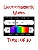 Electromagnetic Spectrum Choice Menu - Total of 10