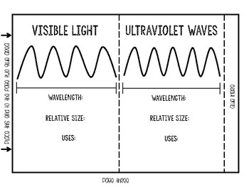 Electromagnetic Spectrum Foldable FREEBIE
